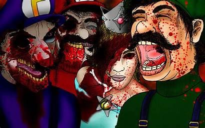 Scary Halloween Wallpapers Mario Blood Gore Desktop