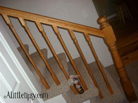 renew   wood banister   tipsy
