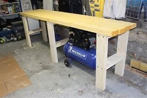 Fabriquer Un établi : bricolage diy fabriquer son tabli en bastaing tape 2 le plan de travail ~ Melissatoandfro.com Idées de Décoration