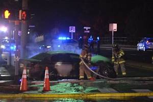 Photos: BMW M5 Catches Fire on Old Dominion Drive | ARLnow.com