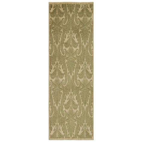 overstock runner rugs nourison overstock aristo khaki 2 ft 2 in x 7 ft 6 in