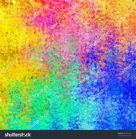 Digital Painting Beautiful Multicolor Water Color Stock
