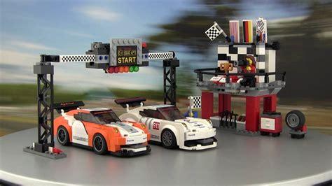 lego speed chions porsche lego 174 speed chions porsche 911 gt3 r hybrid und gt3 rsr finish line