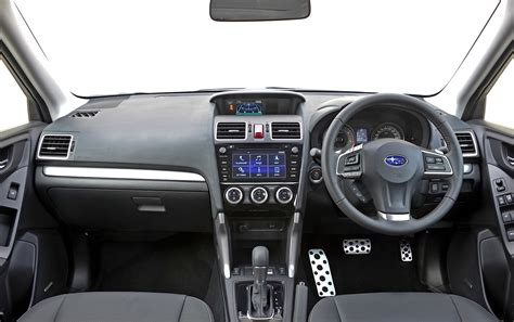 subaru forester interior subaru forester gets new engine gearbox duo and revised