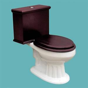 Toilets White Lowboy Raised Panel Elongated Cherry Finish