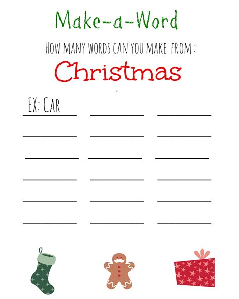 christmas games for kids free printable christmas make a word game a thrifty mom recipes