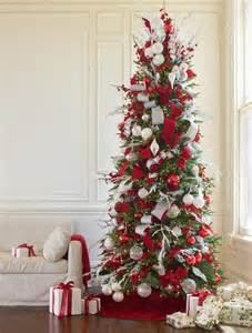 red white and sparkle christmas tree christmas tree decorating ideas