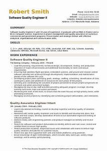 Computer Skills On Resume Example Software Quality Engineer Resume Samples Qwikresume