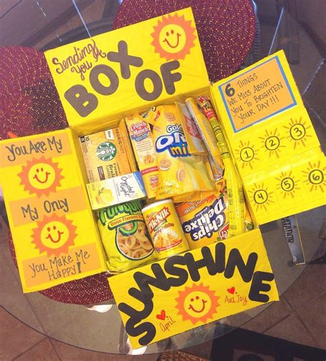 box  sunshine care package  spring  summer care