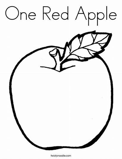 Coloring Apple Pages Sheet Sheets Colouring Noodle
