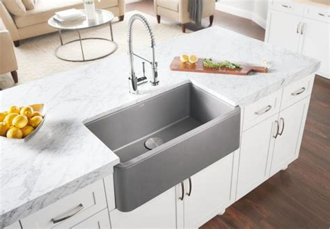 granite apron front kitchen sinks the fixture gallery blanco silgranit blanco ikon 33 6884