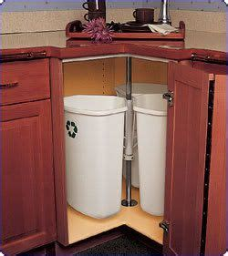 lazy susan kitchen cabinets trash recycling cans in corner cabinet spin like lazy 6868