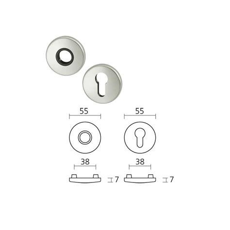 poignee de porte rosace poign 233 e sur rosace aluminium mod 232 le 1005