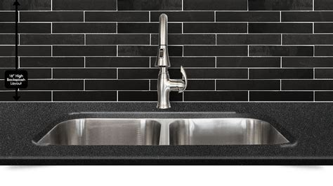 Black Dark Gray Slate Mosaic Kitchen Backsplash Tile