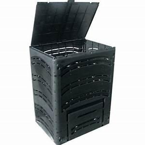 Composteur Pas Cher : composteur en pehd noir 500l castorama ~ Preciouscoupons.com Idées de Décoration