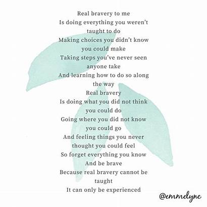 Brave Poem Bravery Poetry Poems Quote Words