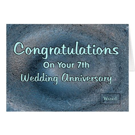 7th wedding anniversary 7th wedding anniversary greeting card zazzle