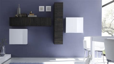 canapé angle anthracite colonne suspendue linery de rangement verticale mobilier