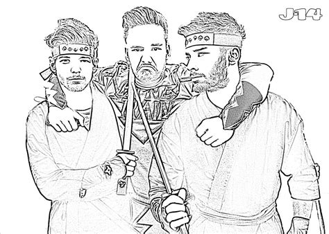 10 Printable One Direction Coloring Pages