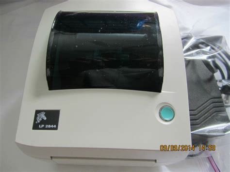 Our web site is not responsible for the possible damages on your pc. Zebra Original LP 2844 Label Thermal Printer With Power ...