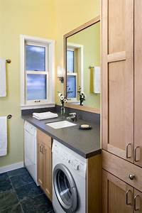 Small bathroom design with washer and dryer laundry or mud for Bathroom ideas with washer and dryer