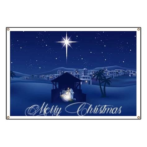 merry christmas nativity banner by admin cp59133934