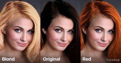 faceapp   ai color  hair