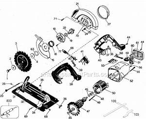 Black and decker 7308 parts list and diagram type 8 for Circular saw diagram