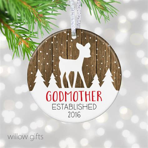 items similar to godmother ornament new godmother gift