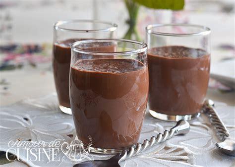 recette cuisine dessert recette crème dessert au chocolat façon danette amour de cuisine