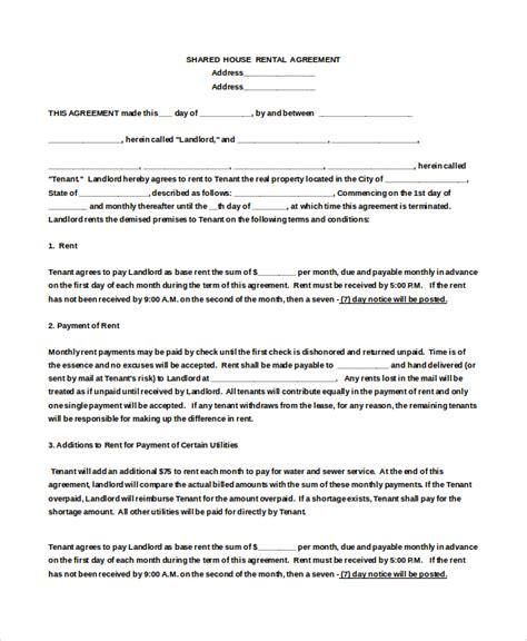 house rental agreement templates
