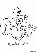 Turkey Baker Coloring Pages Chef Colouring Sheet Pitara Template sketch template