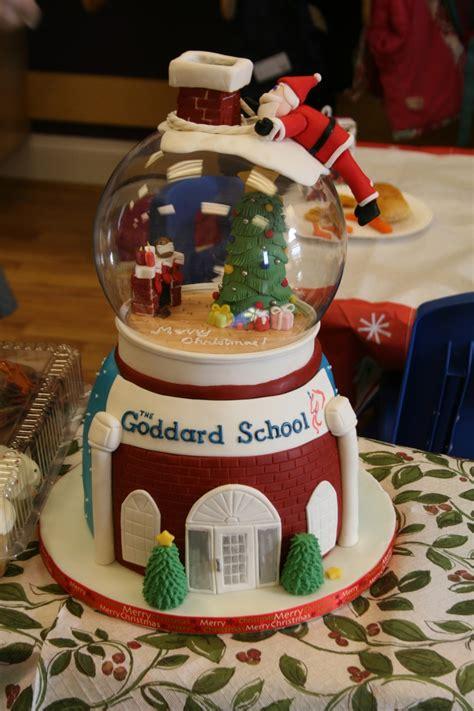 snow globe christmas cake cakecentralcom
