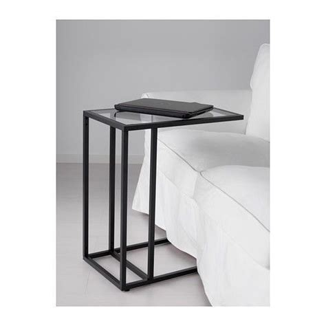 Ikea Glass Living Room Table by Laptop Stand Side Coffee Table Black Brown Frame Glass