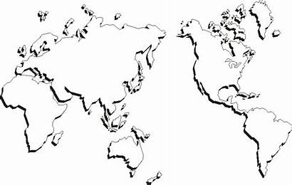 Printable Map Outline Coloring Blank Maps Pages