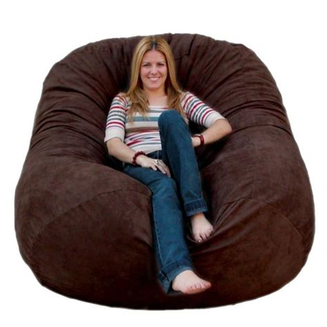 cozy sack 6 bean bag chair large chocolate my home