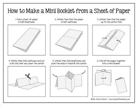 Folding Mini Book Templates
