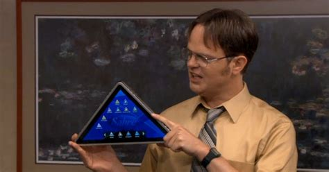pyramid shaped tablet  debut   office wired