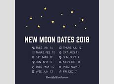 Moon Phase Calendar of 2018 » Plentiful Earth