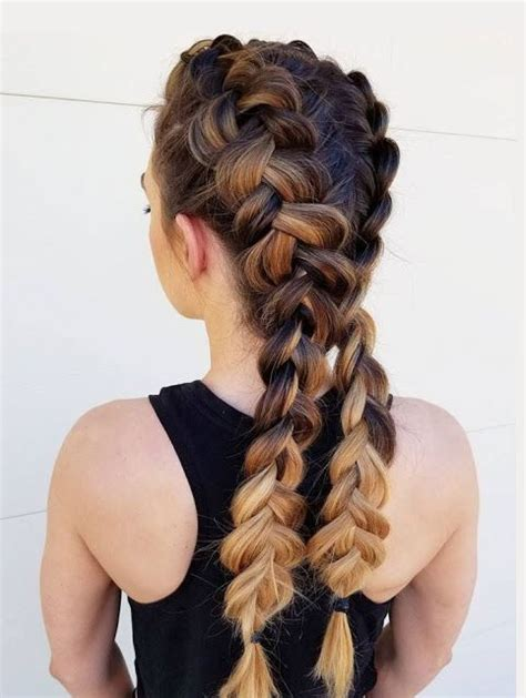 zwei franzoesische zoepfe frisuren frisuren   hair
