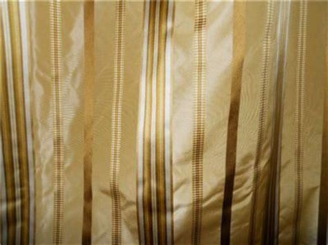 taffeta silk drapes designer striped curtains gold tones