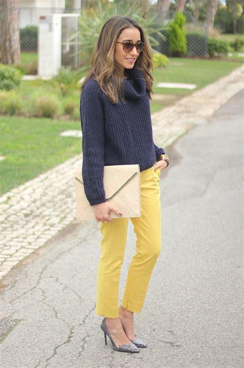 Navy Blue u0026 Yellow | BeSugarandSpice - Fashion Blog