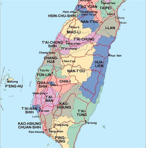 taiwan political map order   taiwan political map