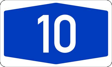 Bundesautobahn 10 Wikipedia