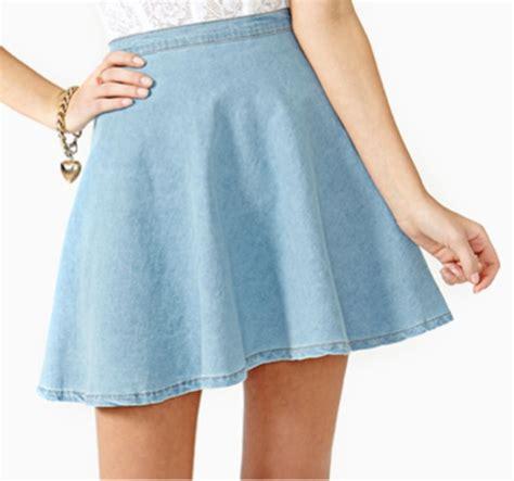 light blue jean skirt skirt skater skater skirt flare denim chambray light