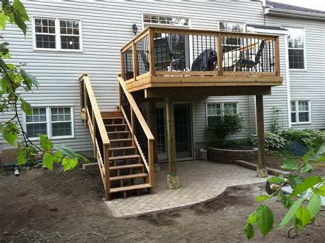 Home Deck Design Ideas by Second Story Deck Plans Home Design Ideas In 2nd Story