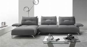 canape d39angle cuir 3 places avec accoudoir spacer toulon With tapis bébé avec mobilier de france canapé