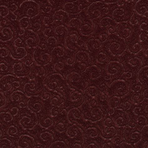 upholstery fabric by the yard c336 burgundy swirl scroll microfiber upholstery fabric by