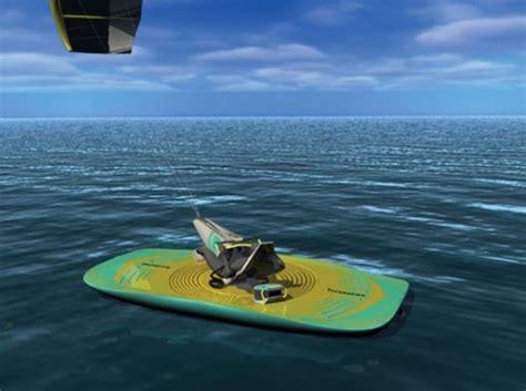 Sailing Boat With Kite by Future Transportation Futuristic Watercraft Kite Boat