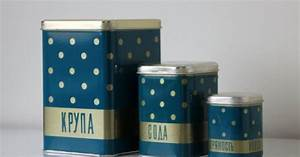 polka dot tin canister from ussr for groats soda and With kitchen colors with white cabinets with tom dixon etch candle holder